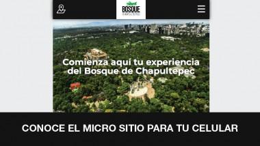 Conoce el micrositio del Bosque de Chapultepec