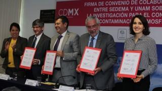 Firma Gobierno de la CDMX convenio con el Centro de Ciencias de la Atmósfera de la UNAM